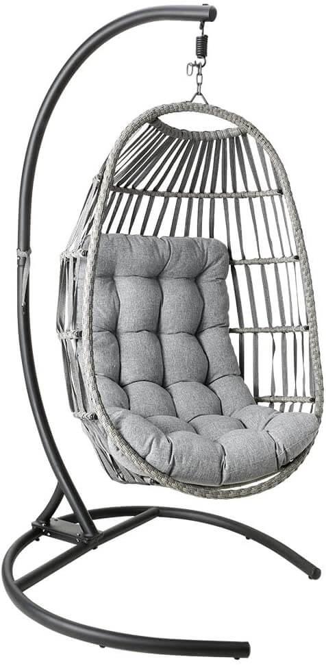 MOTRIP Wicker Rattan Swing Chair, Hanging Chair
